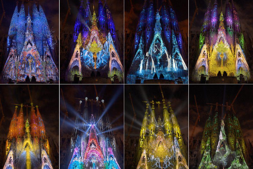 Imagenes Sagrada Familia Navidad.Proyecciones En La Sagrada Familia Por Navidad Barcelona